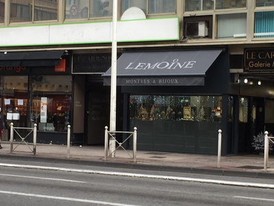 Porte d'entrée et vitrage securit,habillage et pliage, store extérieur  - Bijouterie Lemoine
